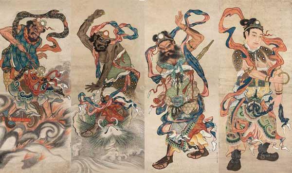 quatre-roi-celestes-pas-jingang-taiji-quan-chen-shaolin